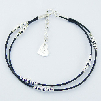 BR11 Double-Leather-Bracelet-925