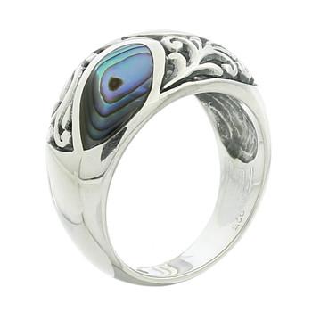 R60 925-Silver--Abalone-Paua