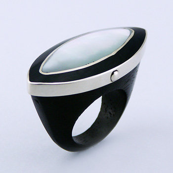 R61 Wood-Ring-Marquise-Shaped